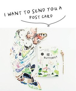 Butterfly Shaped Postcard Set