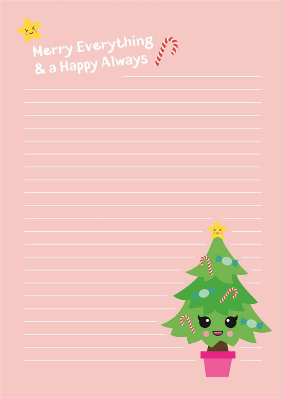 A5 LETTER PAPER PAD | CHRISTMAS TREE