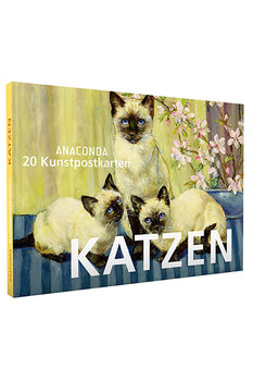 Anaconda Art Postcard Book | Katzen