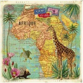 Gwenaëlle Trolez Créations Square Postcard | Afrique