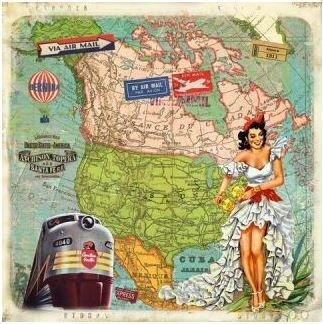 Gwenaëlle Trolez Créations Square Postcard | Amérique du nord
