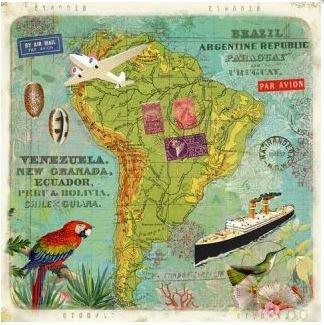 Gwenaëlle Trolez Créations Square Postcard | Amérique du Sud