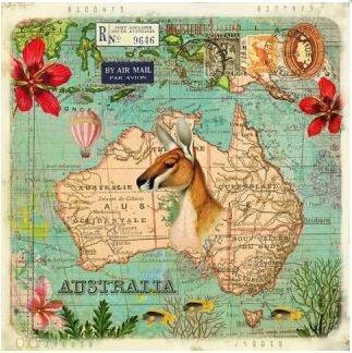 Gwenaëlle Trolez Créations Square Postcard | Australie
