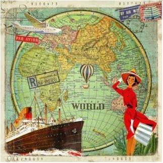 Gwenaëlle Trolez Créations Square Postcard | Tour du monde