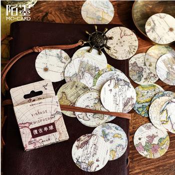 Sticker Flakes Box | World Maps