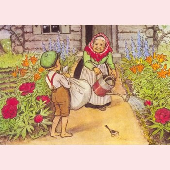 Elsa Beskow Postcard | Illustration from Pelles new suit
