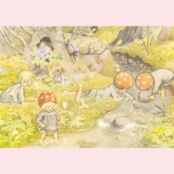 Elsa Beskow Postcard | Illustration from Children of the Forest