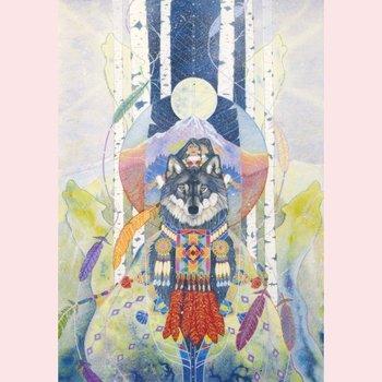 Postcard Ellen Uytewaal | Sister Wolf