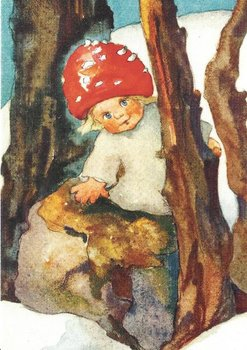 Postkarte Mili Weber - Pilzkind