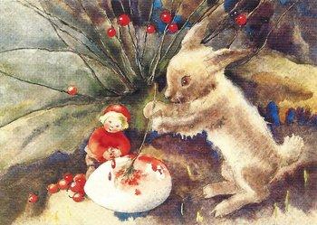 Postkarte Mili Weber - Ostern steht vor der Tür