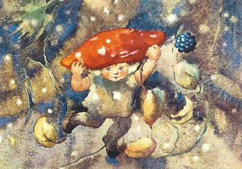 Postcard Mili Weber - The Jolly Mushroom