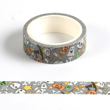Washi Masking Tape | Halloween Mix Grey