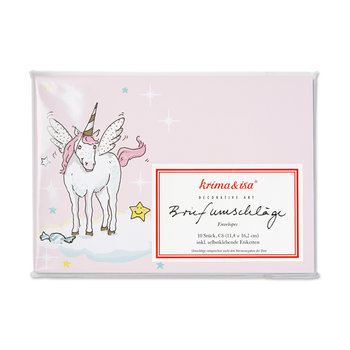 Envelope Set C6 - Unicorn