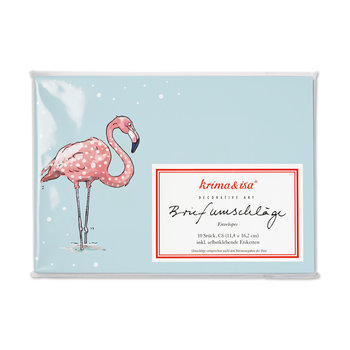 Envelope Set C6 - Flamingo