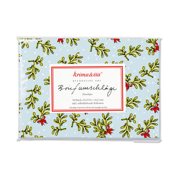 Envelope Set C6 - Mistletoe