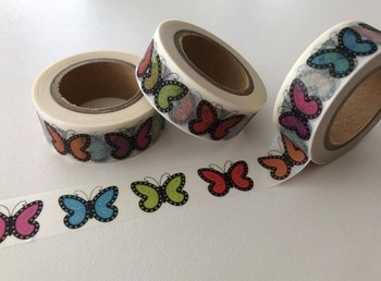 Washi Masking Tape | BIG Rainbow Butterflies