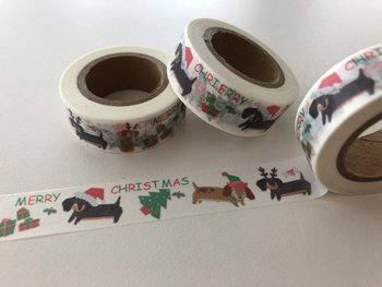 Washi Masking Tape | Merry Christmas Dogs