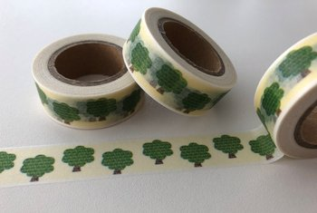 Washi Masking Tape | Green Trees