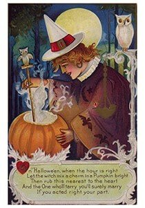 Victorian Halloween Postcard | Halloweenwens