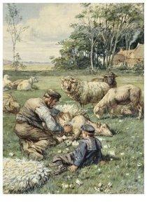 Postcard   Cornelis Jetses, Uit: Dicht bij huis