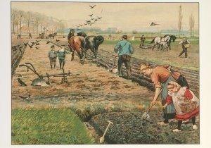 Postcard | Cornelis Jetses, Het volle leven: 'Lente op den akker'