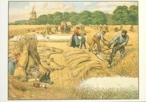 Postcard | Cornelis Jetses, Het volle leven: 'Een julidag op het land'
