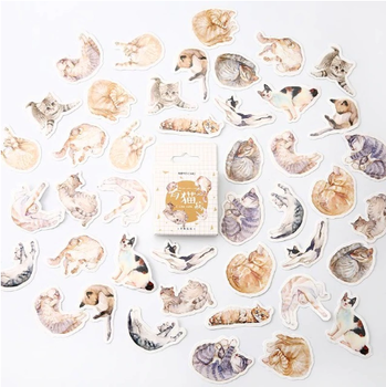 Sticker Flakes Box | Cats
