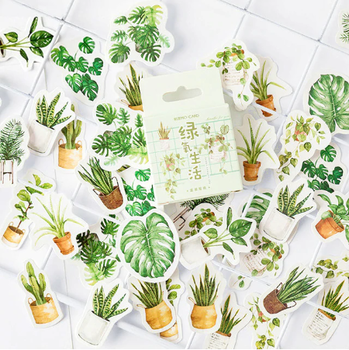 Sticker Flakes Box | Houseplants