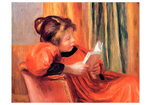 Postcard | Auguste Renoir - Girl Reading
