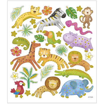 Seal Sticker with Gold Foil | Safari animals