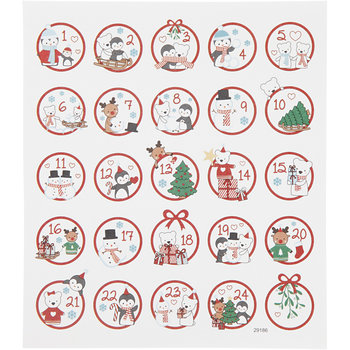 Seal Sticker met Glitter Folie | Kerst polar fun 1-24