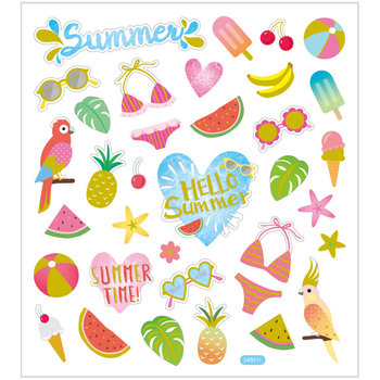 Seal Sticker met Glitter Folie | Hello Summer