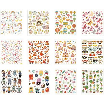 Sticker Book with Glitter Foil | 12 sheets