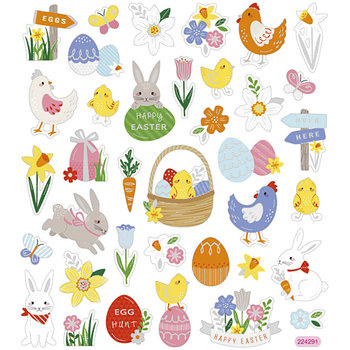 Seal Sticker with Silver Foil | Easter Mix