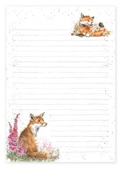 Fox Jotter Pad - Wrendale Designs