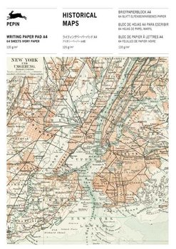 Pepin Press - Writing Paper Pad A4 - Historical Maps