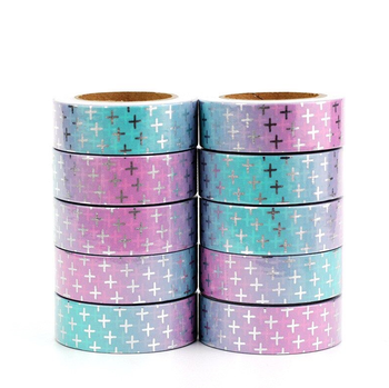 Washi Masking Tape | Cute Foil Cross