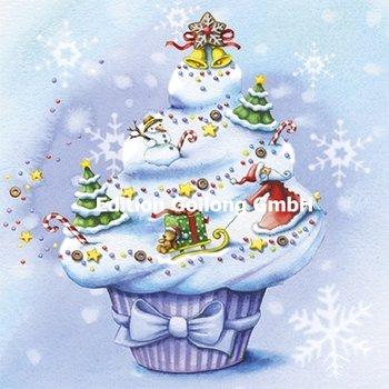 Nina Chen Postkarte Christmas | Weihnachtlicher Cupcake