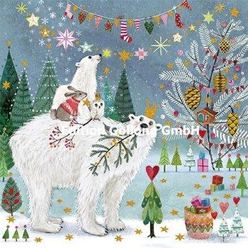 Mila Marquis Postcard Christmas | Polar Bears