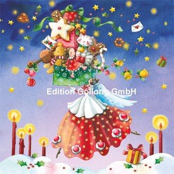 Nina Chen Postkarte Christmas | Engel mit Geschenken