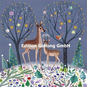 Mila Marquis Postkarte Christmas | Zwei weihnachtliche Rehe