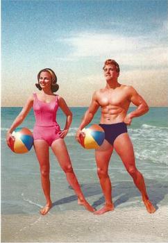 Beach Ball Couple Individual Postcard by Max Hernn