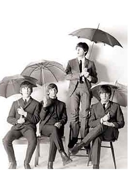 Postcard   The Beatles, Umbrellas