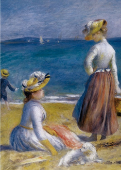 Postcard Tushita Fine Arts | Figures on the Beach, Renoir