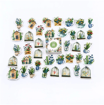Sticker Flakes Box | Houses loves Plants