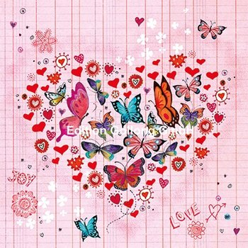 Cartita Design Postcard | Heart with butterflies