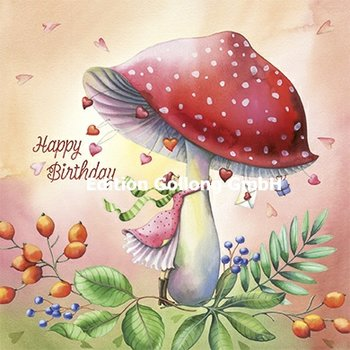 Nina Chen Postcard | Happy Birthday (Mushroom)