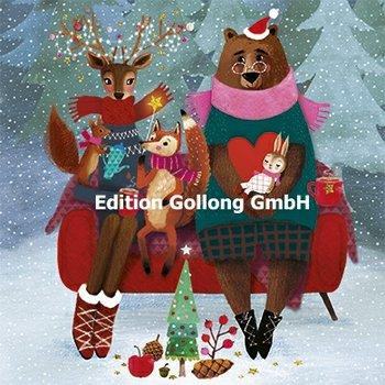 Mila Marquis Postkarte Christmas | Weihnachtliche Tiere
