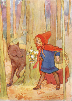 Postcard | Red Riding Hood