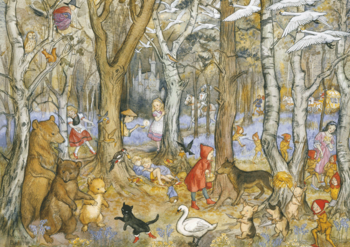 Postcard Molly Brett   Fairy Tale Wood